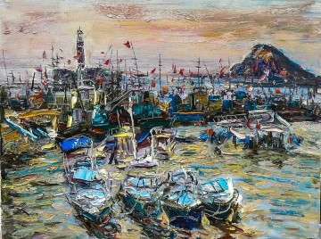 Artworks in 150 Subjects Painting - fishing port 2 China scenery