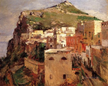 Capri impressionism landscape Theodore Robinson Mountain Oil Paintings