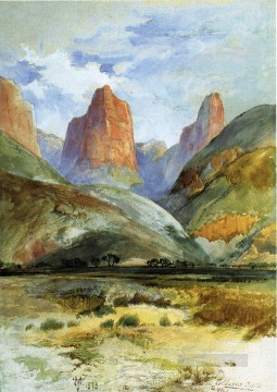 Mountain Painting - Colburns Butte South Utah landscape Thomas Moran mountains