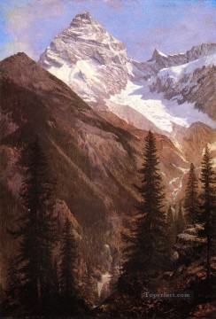 Canadian Rockies Asulkan Glacier Albert Bierstadt Mountain Oil Paintings