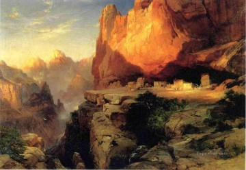 Mountain Painting - Cliff Dwellers landscape Thomas Moran