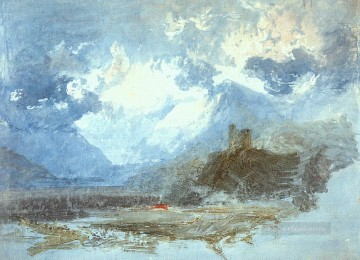 william - Dolbadern Castle 1799 Romantic landscape Joseph Mallord William Turner Mountain