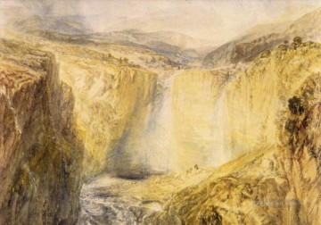 william - Fall of the Tees Yorkshire Romantic landscape Joseph Mallord William Turner Mountain