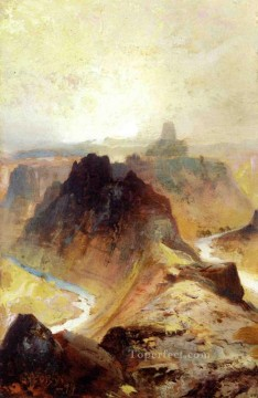 Mountain Painting - Grand Canyon Utah landscape Thomas Moran mountains