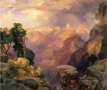 Grand Canyon with Rainbows landscape Thomas Moran mountains Oil Paintings