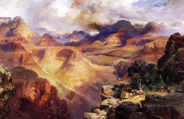 Mountain Painting - Grand Canyon3 landscape Thomas Moran mountains