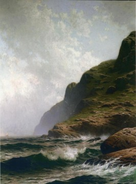 Alfred Canvas - Grand Summer Grand Manan modern beachside Alfred Thompson Bricher Mountain
