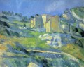 Houses at the LEstaque Paul Cezanne Mountain