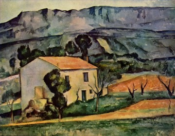 Houses in Provence near Gardanne Paul Cezanne Mountain Oil Paintings
