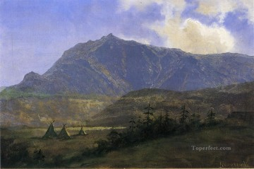 Indian Encampment Albert Bierstadt Mountain Oil Paintings