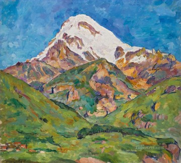 KAZBEK Petr Petrovich Konchalovsky landscape mountains Oil Paintings