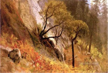 Landscape Study Yosemite California Albert Bierstadt Mountain Oil Paintings