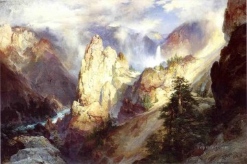 Landscape Thomas Moran mountains Oil Paintings