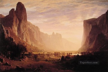 Yosemite Art - Looking Down YosemiteValley Albert Bierstadt Mountain