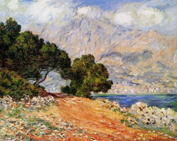 Meton Seen from Cap Martin Claude Monet Mountain Oil Paintings