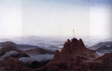 Morning In The Riesengebirge Romantic landscape Caspar David Friedrich Mountain Oil Paintings
