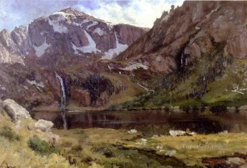 Mountain Lake Albert Bierstadt Oil Paintings