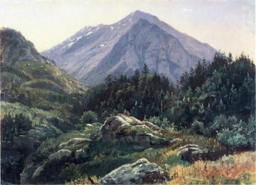 Mountain Painting - Mountain Scenery Switzerland scenery William Stanley Haseltine