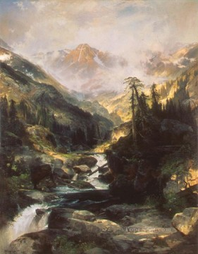 Mountain Painting - Mountain of the Holy Cross landscape Thomas Moran