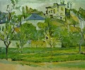 Orchard in Pontoise Paul Cezanne Mountain