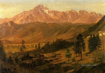 Pikes Peak Albert Bierstadt Mountain Oil Paintings