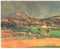 Plain by Mont Sainte Victoire Paul Cezanne Mountain