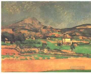 Sainte Painting - Plain by Mont Sainte Victoire Paul Cezanne Mountain