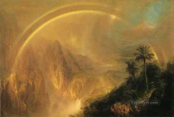 Rainy Season in the Tropics scenery Hudson River Frederic Edwin Church Mountain Oil Paintings