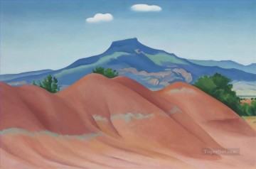 Red Hills with Pedernal White Clouds Georgia Okeeffe mountain Oil Paintings