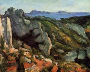 Rocks at L Estaque Paul Cezanne Mountain Oil Paintings