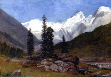 Rocky Mountain Albert Bierstadt Oil Paintings