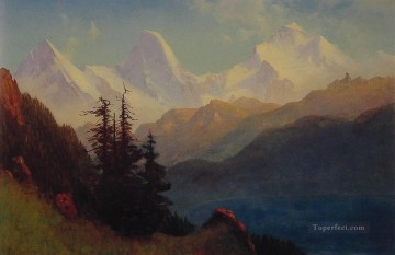 Splendour of the Grand Tetons Albert Bierstadt Mountain Oil Paintings