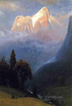 storm Works - Storm Among the Alps Albert Bierstadt Mountain