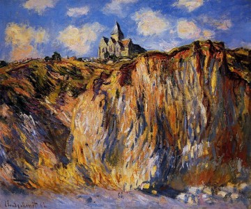 The Church at Varengeville Morning Effect Claude Monet Mountain Oil Paintings