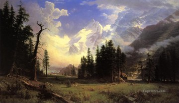 The Morteratsch Glacier Upper Engadine Valley Pontresina Albert Bierstadt Mountain Oil Paintings