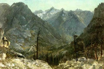 The Sierra Nevadas Albert Bierstadt Mountain Oil Paintings