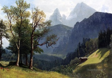 Tyrolean Lansscape Albert Bierstadt Mountain Oil Paintings