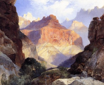 Mountain Painting - Under the Red Wall Grand Canyon of Arizona landscape Thomas Moran Mountain
