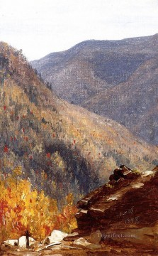 View near Kauterskill Cove scenery Sanford Robinson Gifford Mountain Oil Paintings