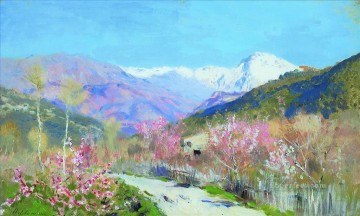 spring in italy 1890 Isaac Levitan mount landscape Oil Paintings