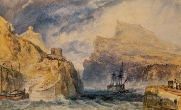 Boscastle Cornwall Romantic landscape Joseph Mallord William Turner Mountain Oil Paintings