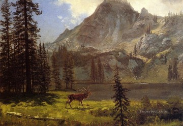 Call of the Wild Albert Bierstadt Mountain Oil Paintings