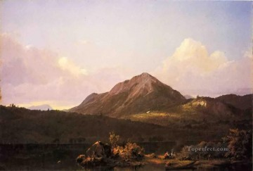 Camp Fire in the Maine Wilderness scenery Hudson River Frederic Edwin Church Mountain Oil Paintings