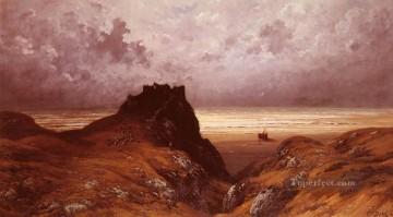 Castle On The Isle Of Skye landscape Gustave Dore Mountain Oil Paintings
