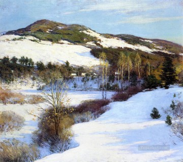 Cornish Hills scenery Willard Leroy Metcalf Mountain Oil Paintings