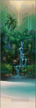 mountains art - Enchanted Falls rainforest mountains