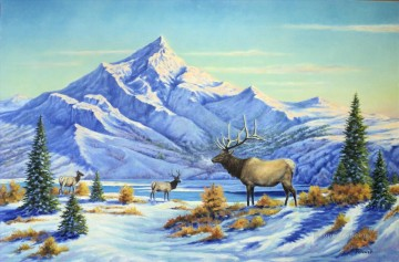 Mountain Painting - High Country Early Winter Morning mountains landscapes