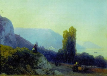 Mountain Painting - Ivan Aivazovsky on the way to yalta mountain