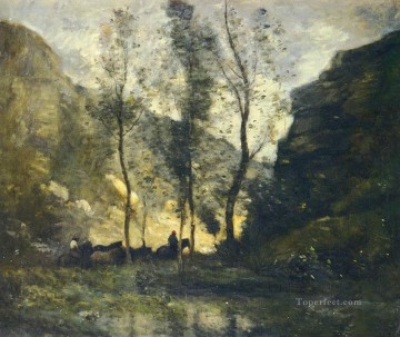 LES CONTREBANDIERS Jean Baptiste Camille Corot Mountain Oil Paintings