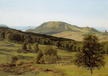 Landscape Hill and Dale Albert Bierstadt Mountain Oil Paintings